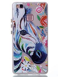 Pour Phosphorescent Motif Coque Coque Arrière Coque Animal Flexible PUT pour Huawei Huawei P9 Lite Huawei P8 Lite