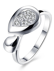 Ring Jewelry Brass Zircon Cubic Zirconia Silver Plated Silver Jewelry Wedding Daily Casual 1pc