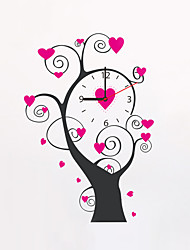 Modern Style Fashion Creative Pink Love Tree Wall Clock