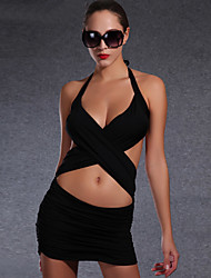 Women Two-Piece Swimwear Solid color Swimwear Elasticity Swimsuit Thin Paragraph Swimsuit