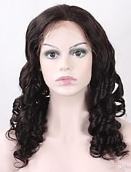 130% Density Brazilian Virgin Hair Full Lace Wig Loose Wave With Adjustable Strap Back Top Grade Human Virgin Hair Lace Wig For Black Woman