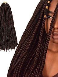 Box Braids Twist Braids Dark Auburn Hair Braids 24Inch Kanekalon 90g Synthetic Hair Extensions