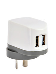 CE Certified Dual USB Wall Charger, AU/New Zealand Plug Plug,5V 2.4A output, for iPhone 5 iPhone 6/Plus, iPad Air/Mini/4