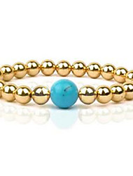 Women's Strand Bracelet Gemstone Gem Fashion Silver Golden Rose Gold Jewelry 1pc