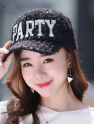 Sequins Alphabet Ball Ball Baseball Cap Women Fashion Warm Caps