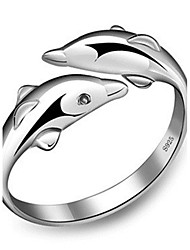Jewelry Women Alloy Women Silver Dolphin Ring