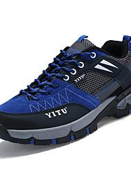 Masculino-Tênis-Conforto-Rasteiro-Laranja Azul Real Verde Militar-Tule Pele-Ar-Livre Para Esporte