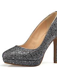 Women's Heels Spring Summer Fall Winter Other Synthetic Wedding Party & Evening Dress Stiletto Heel Green Silver Dark Blue