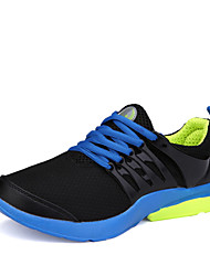 Big Size Lover Shoes Women's Sneakers Comfort Tulle Athletic Shoes Casual Flat Heel Lace-up Black / Blue / Pink