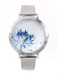 Hombre Mujer Unisex Reloj Deportivo Reloj de Vestir Reloj de Moda Cuerda Automática Calendario Esfera Grande Aleación Banda Cosecha Casual