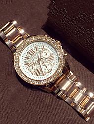 Mulheres Relógio de Moda Quartzo imitação de diamante Lega Banda Ouro Rose marca