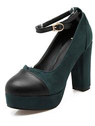Homme-Mariage Bureau & Travail Soirée & Evénement Habillé Décontracté-Noir Marron Vert Rouge-Gros Talon-Confort Nouveauté-Chaussures à