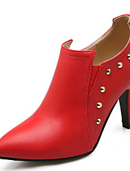 Women's Shoes Stiletto Heel Pointed Toe Rivets Ankle Boot More Color Available