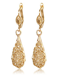 Drop Earrings AAA Cubic Zirconia Pearl Alloy Fashion Drop Gold Jewelry Daily 1 pair