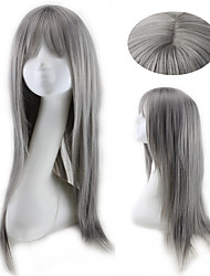Grey Fashion Straight Daily Wig Cosplay Party Cheap High Quality Natural Heat Resistant Hairstyle for and American Ladies