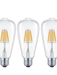 3 pcs-7w e26 / e27 led bombillas de filamento 8cob 720lm cálido blanco / cool blanco dimmable AC 110-240v