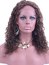 Top Grade Brazilian Virgin Hair Lace Front Wigs Kinky Curly Hair Middle Brown Color Human Hair Lace Wig For Fashion Woman