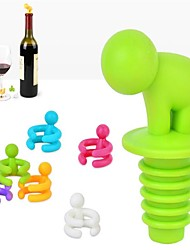 7 Pcs/Set Wine Cup  Silicone Marker Bars  Or Party Prevent Confuse Rubber Wine Glasses Label With Bottle Stopper Random  Color