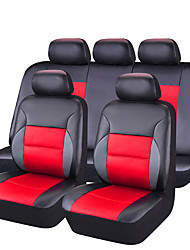 11Pcs PU Leather Auto Car-Covers Full Synthetic Set Seat Covers