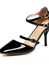 Women's Heels Spring Fall Ankle Strap Leatherette Office & Career Dress Casual Stiletto Heel Buckle Black Red Nude