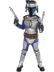 Inspired by Cosplay Kids Deluxe Jango World Star Battles Costume Movie  Costumes Cosplay  Wars Suits Cosplay Silver For Kids