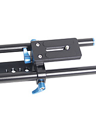 YELANGU Universal Height Adjustable Camera Base Plate with Quick Release and 15mm Rods for Camereas and Camcorders