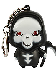 Keychain Jewelry Unique Design Unisex Cool Casual Assorted Colored Adorable Death LED Personalize Wallet Accessories