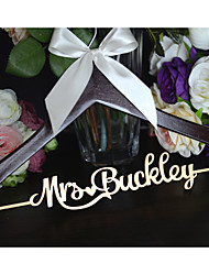 Custom Wedding Dress Hanger Personalized Wedding Hanger Cherry Hanger White Bow with Name Hand Painted in Silver or Gold