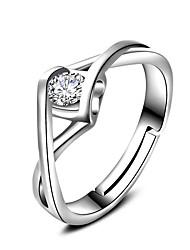 Кольца Свадьба Для вечеринок Особые случаи Повседневные Бижутерия Циркон Классические кольца Кольцо Обручальное кольцо 1шт,Регулируется
