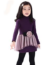 Children Kids Girls Cotton Long Sleeve 3-7 Years Velvet Princess Dress Clothes