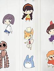 Cartoon Spirited Away Wall Stickers Fashion Family Plane Wall Stickers Decorative Bedroom Wall Stickers Paper Material Home Decoration Wall Decal