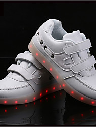 LED's Shoes Boy's Girl's Sneakers Spring Summer Fall Winter Light Up Shoes Outdoor Athletic Casual Flat Heel Hook & Loop Black Blue Pink White