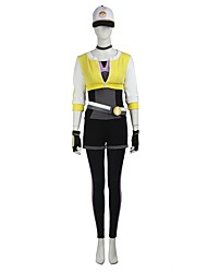 Video Game Cosplay Costumes Cosplay Halloween Suits Cosplay Tops/Bottoms Patchwork White Black YellowCoat Leotard Cap