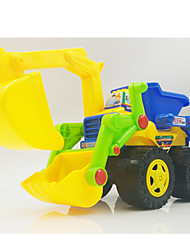 Baufahrzeuge Pull Back Fahrzeuge 1:28 Plastik Grün Blau Gelb