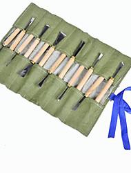 couteau bois sculpture fixés outils de sculpture racine écrémé couteau (12pcs 1 jeu)