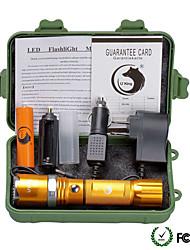 U'King ZQ-X940-EU Plug-gold CREE XML-T6 2000LM 5Mode Flashlight Torch Kit with Attack Head Self-defense Function