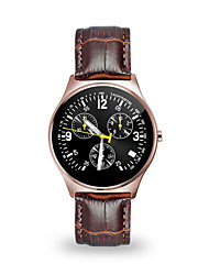 Men's Smart Watch Fashion Watch Digital / Leather Band Casual Brown Brand