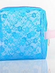 Bolsa de Cosmético Cor Única Others Others PU Azul Verde Rosa Outros Normal Feminino