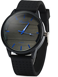Men's Sport Watch Fashion Watch Quartz Digital Large Dial Rubber Band Casual Black Brand