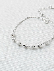 Women's Chain Bracelet Sterling Silver Fashion Simple Style Jewelry Silver Jewelry 1pc