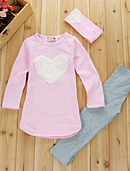 Love Pattern Cotton Head Hoop Coat Leggings 2 Sets Of The Girls