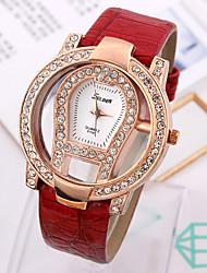 South Korea Fashion Brand Creative Watches Ms High-Grade Hollow Out Set Auger Women Wrist Watch