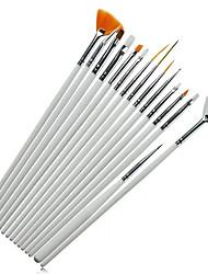 15pcs  Manicure Pen  Brush Wire