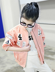 Girl's Fashion Vintage Style Going out Casual/Daily Holiday Cotton Long Sleeve Print Jacket Children Spring/Fall Cartoon Coat