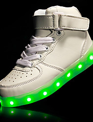 Kids Boy Girl's LED Shoes Sneakers Comfort /  Athletic / Casual Sport Outdoor Shoes / Magic Tape / High Tops / LED USB Charge / Black / Red / White