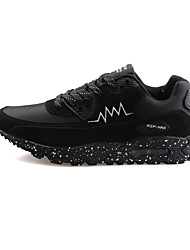 Femme-Sport-Noir Bleu Rouge-Talon Plat-Soles lumière-Chaussures d'Athlétisme-Cuir
