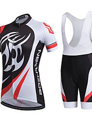 AOZHIDIAN Maillot et Cuissard à Bretelles de Cyclisme Femme Manches Courtes Vélo Ensemble de Vêtements Séchage rapide Résistant à la