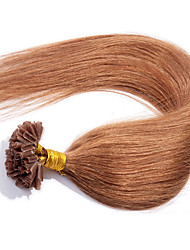 EVET Unprocessed Brazilian Nail Tip Hair Virgin Human Hair U Tip Hair Extensions 0.5G/Strand 100Strands/Lot