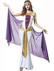 Inspired by Cosplay Anime Cosplay Costumes Cosplay Suits Solid Purple Sleeveless Cloak Dress For Female