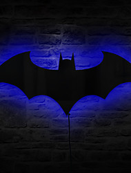 1 stk fjernkontroll ledet originalitet speil batman endre farge nattlys